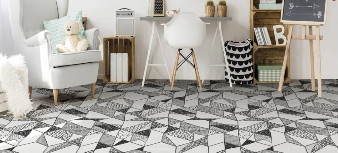 Carrelage hexagonal en grès cérame de couleurs avec des motifs : Hexa
