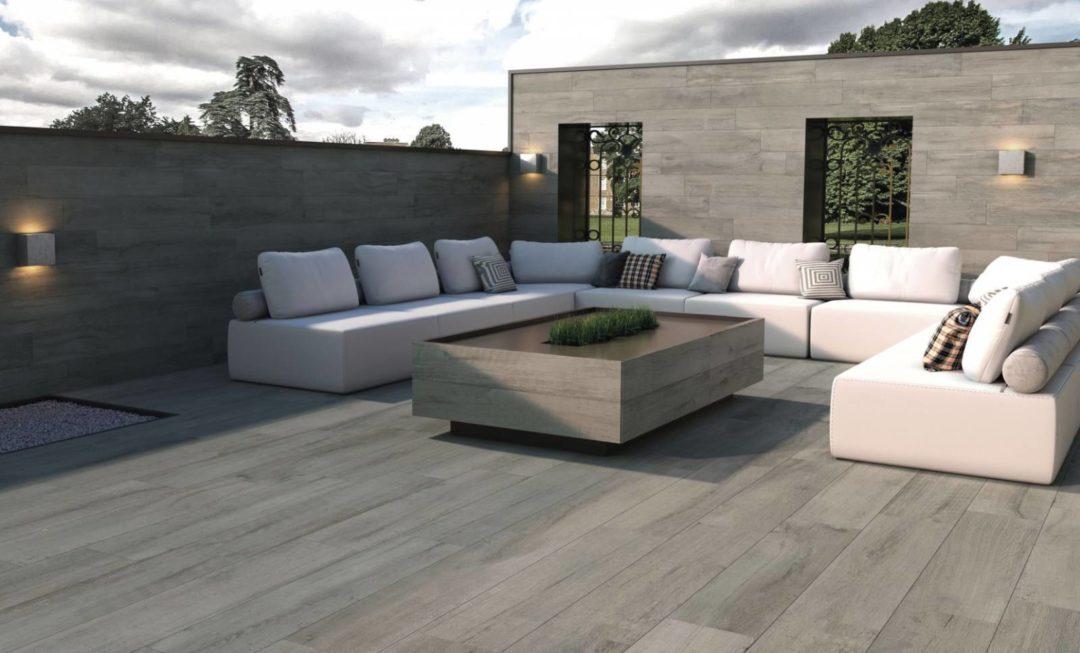 Carrelage imitation bois grand passage pour sol avec des nuances naturelles : Flow