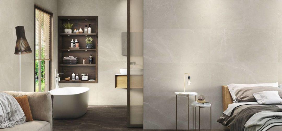 Carrelage effet marbre brillant rectifié pour une pose murale : Bayona