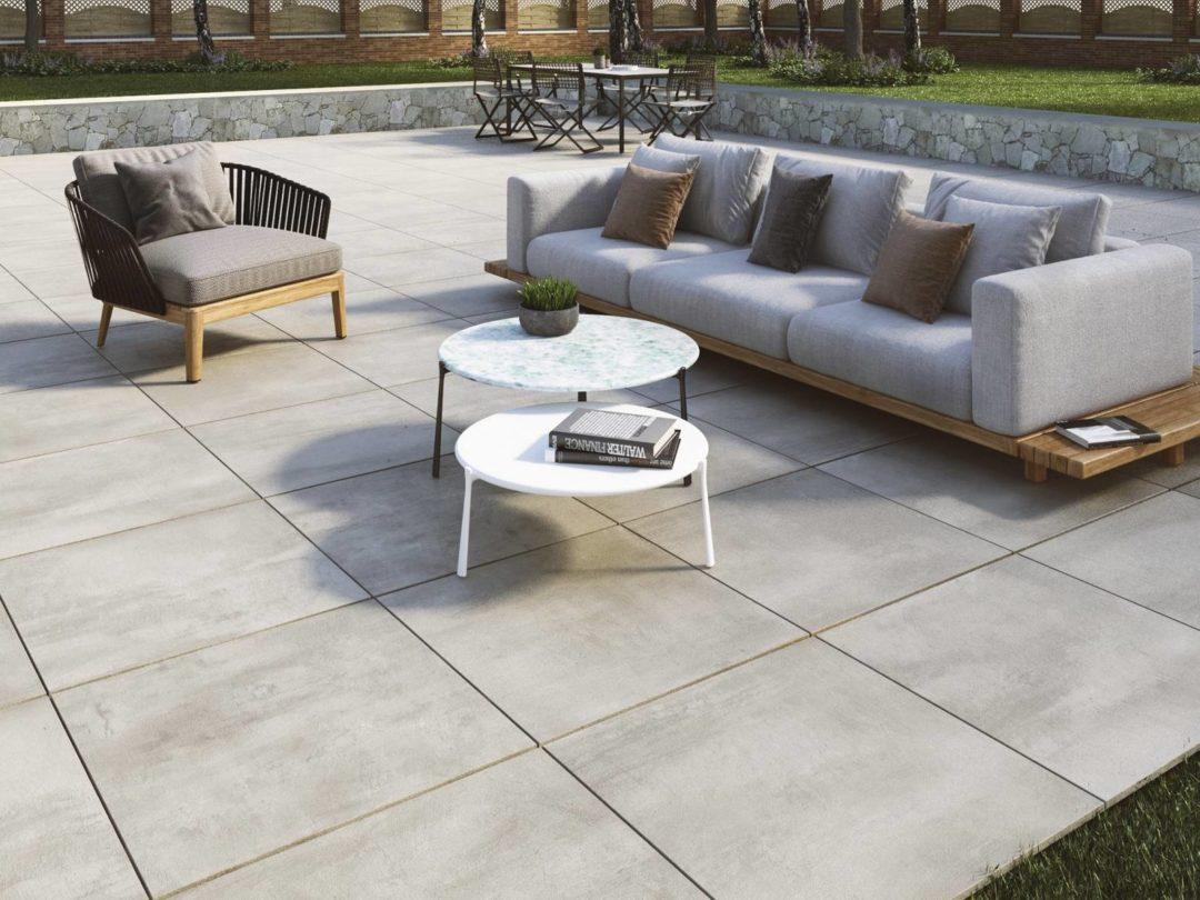 Dalle forte épaisseur pour terrasse pose sur plots en grès cérame : Elder 20 mm