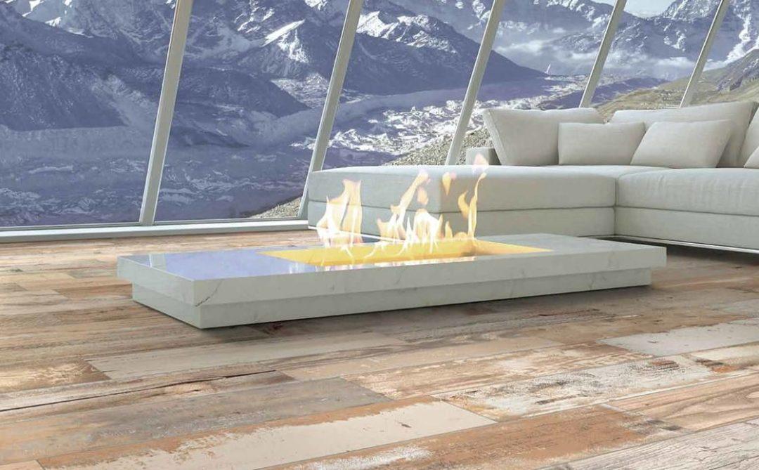 Carrelage haut de gamme italien imitation bois vieillit : Expo