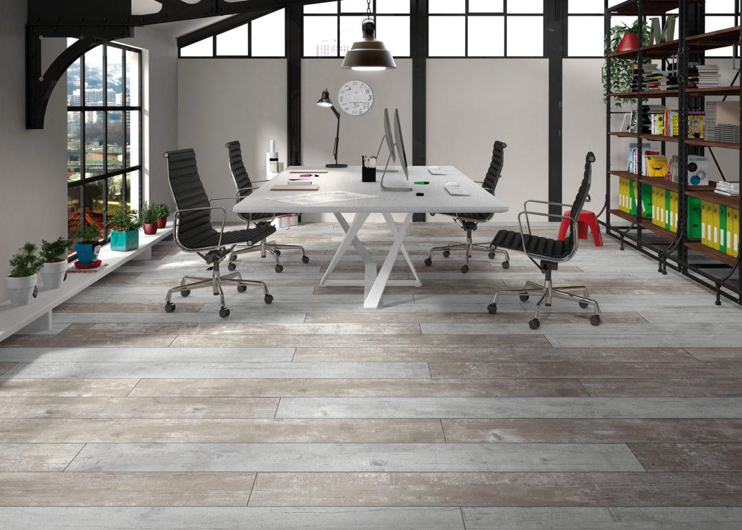 Carrelage aspect bois vieilli style atelier et industriel : Endor