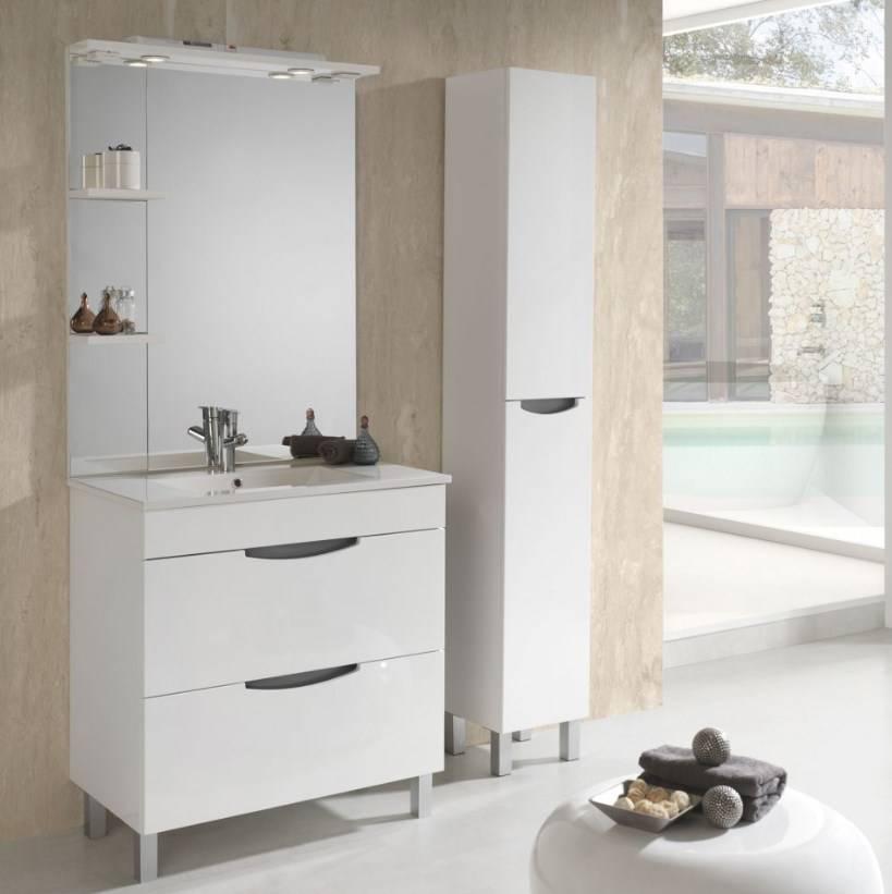 Meuble de salle de bain de qualité bordeaux : Beluga
