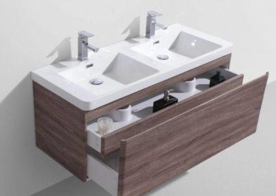 Meuble de salle de bain suspendu de qualité à Bordeaux : Ambre