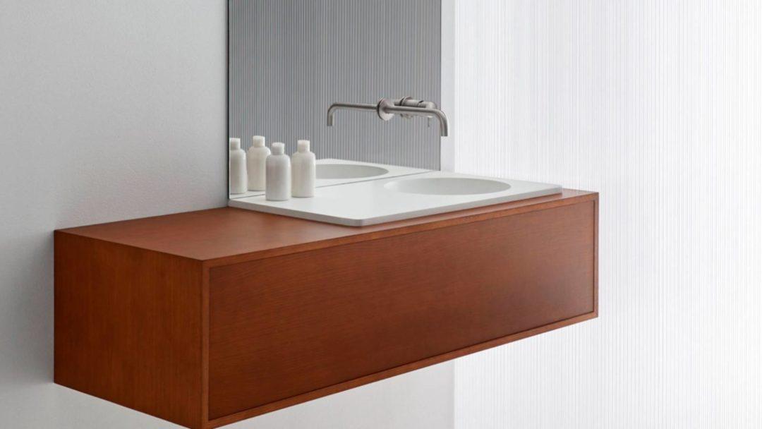 Meuble de salle de bain moderne sur mesure avec vasque résine proche de Bordeaux : Résimeuble