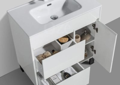 Meuble de salle de bain à poser avec porte et tiroirs à Bordeaux : Dandy