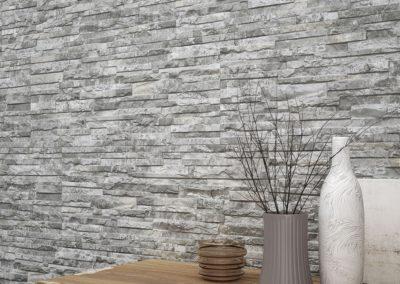 Carrelage Mural imitation parement pierre moderne grand format grès cérame rectifié : Arcalis