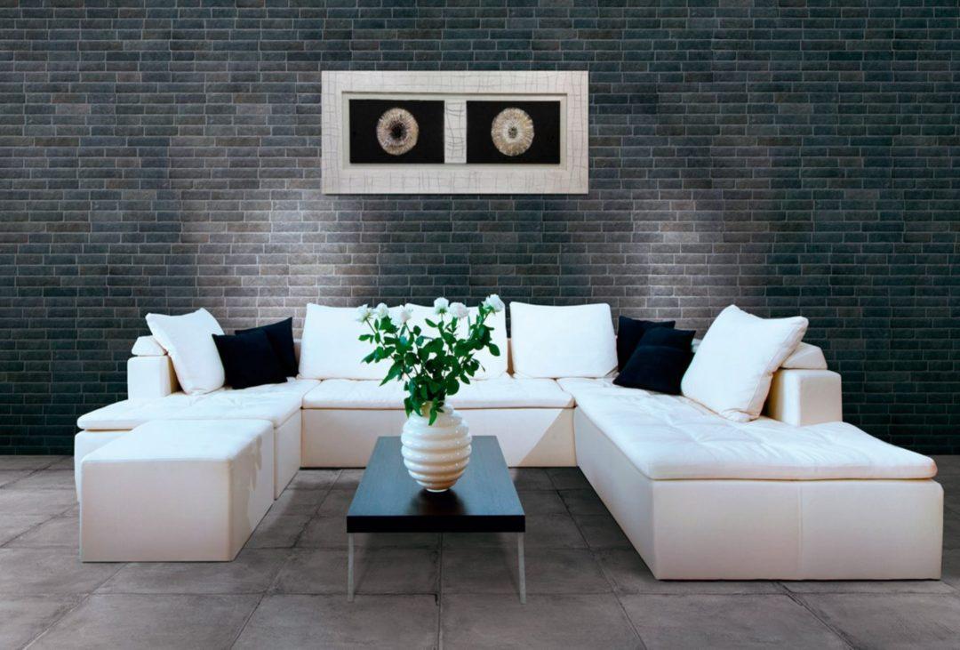 Carrelage mural imitation briquette de parement : Brick