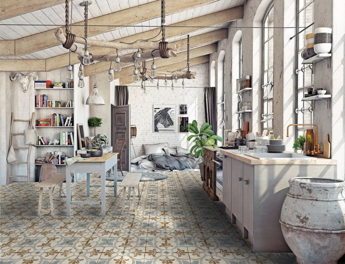 Carrelage imitation carreau ciment: Série Loft Floor