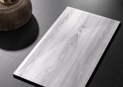 Receveur de douche extra plat 3D imitation bois